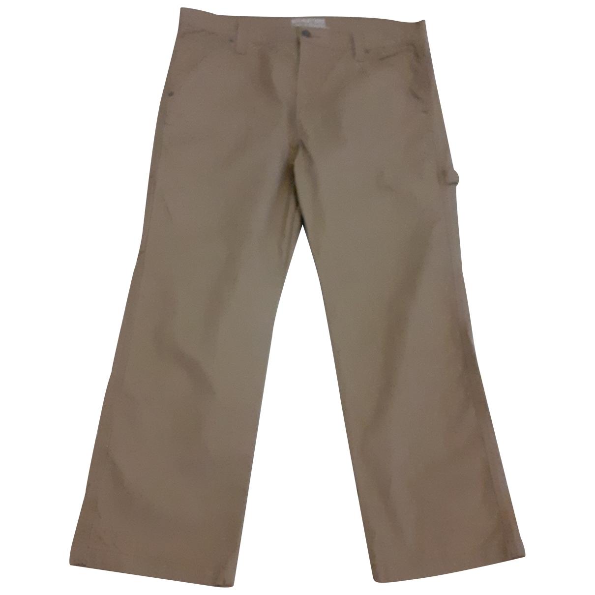 Levi's \N Beige Cotton - elasthane Jeans for Men 40 FR