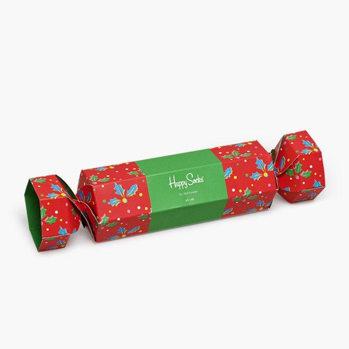 Happy Socks Christmas Cracker Holly Gift Box XHOL02 4300
