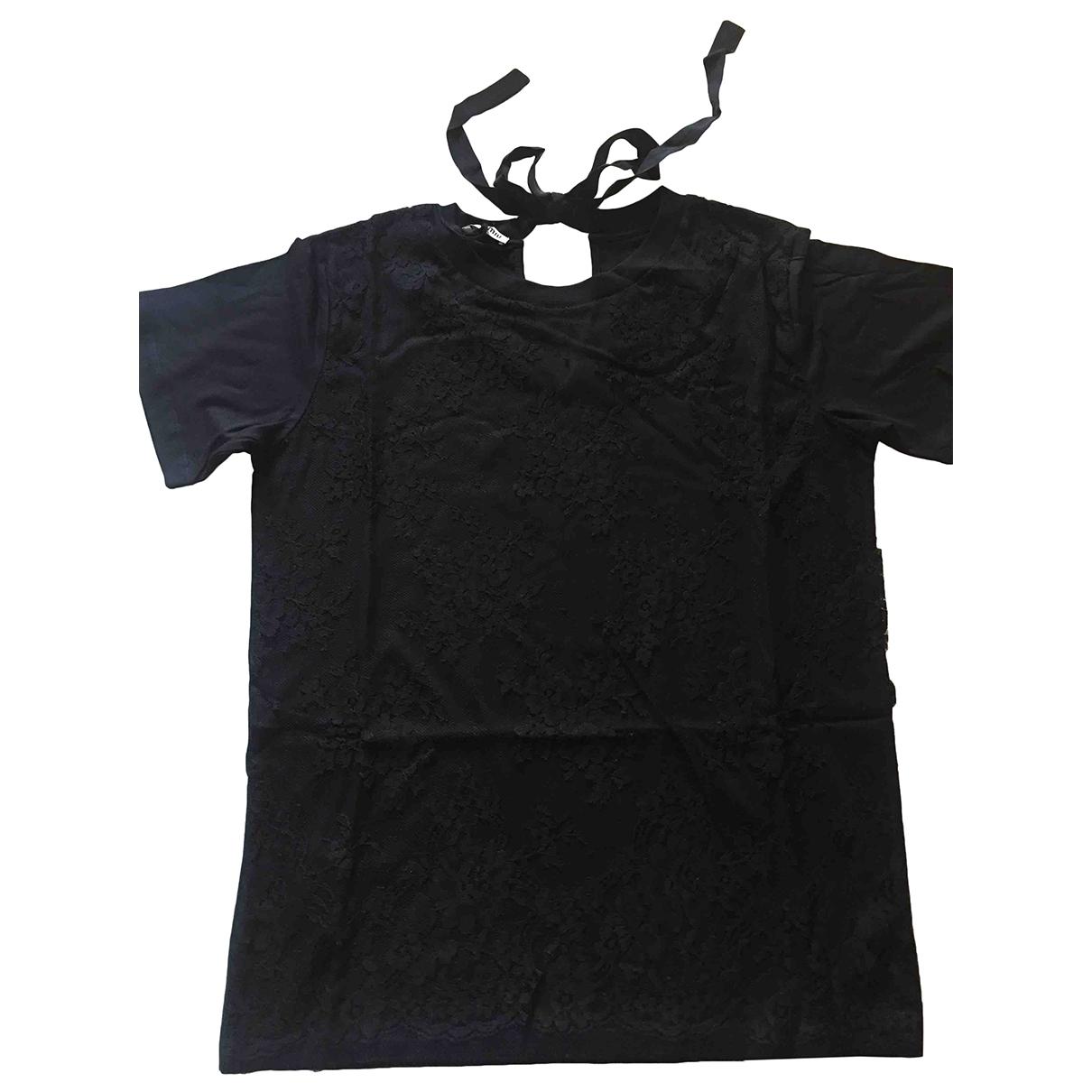 Miu Miu \N Black Cotton  top for Women M International