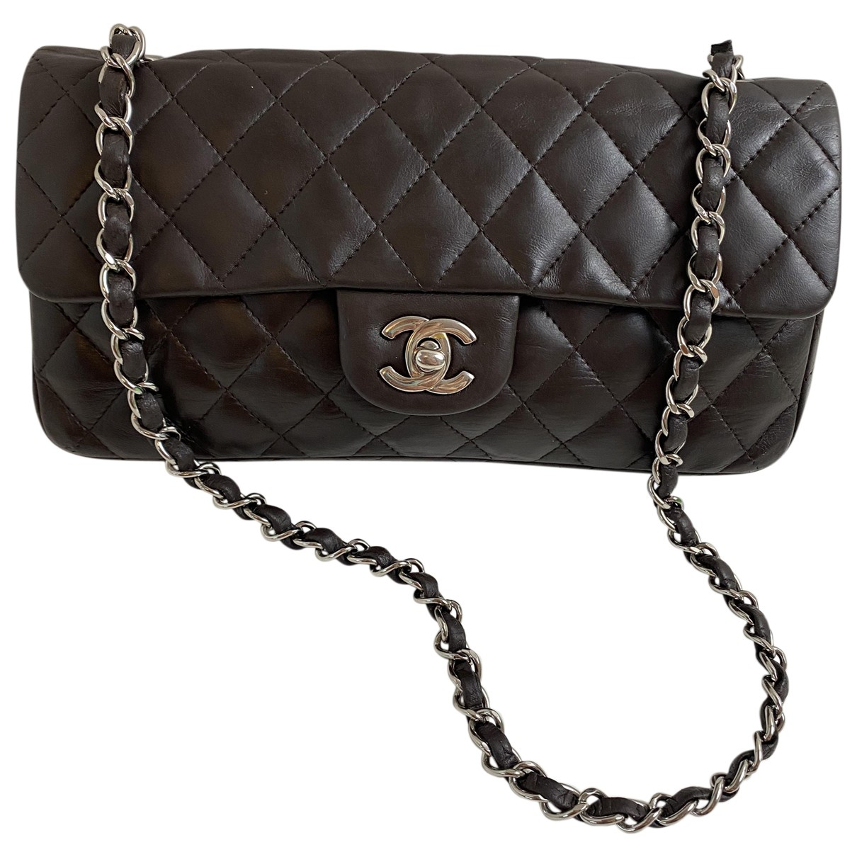 Chanel Timeless/Classique Brown Leather handbag for Women \N
