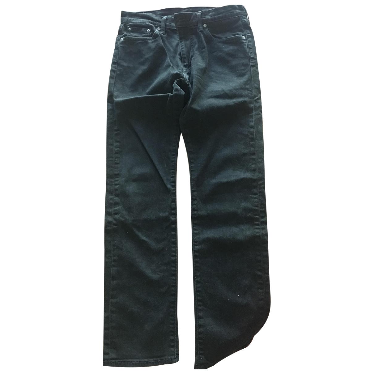 Levi's \N Black Cotton Jeans for Men S International