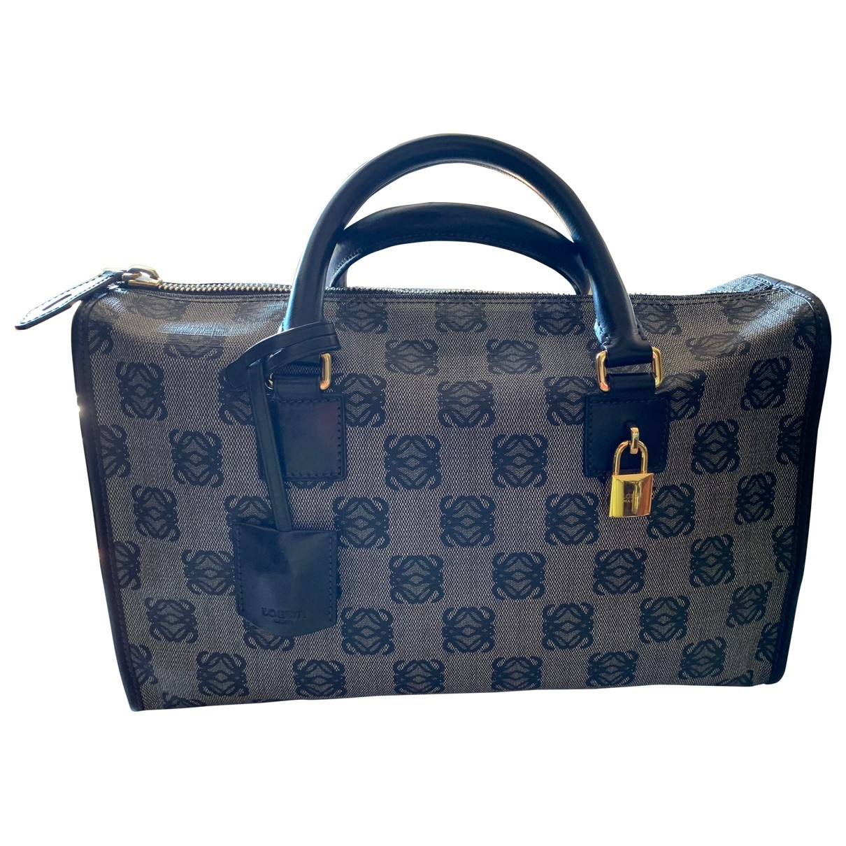 Loewe \N Handtasche in  Blau Leinen