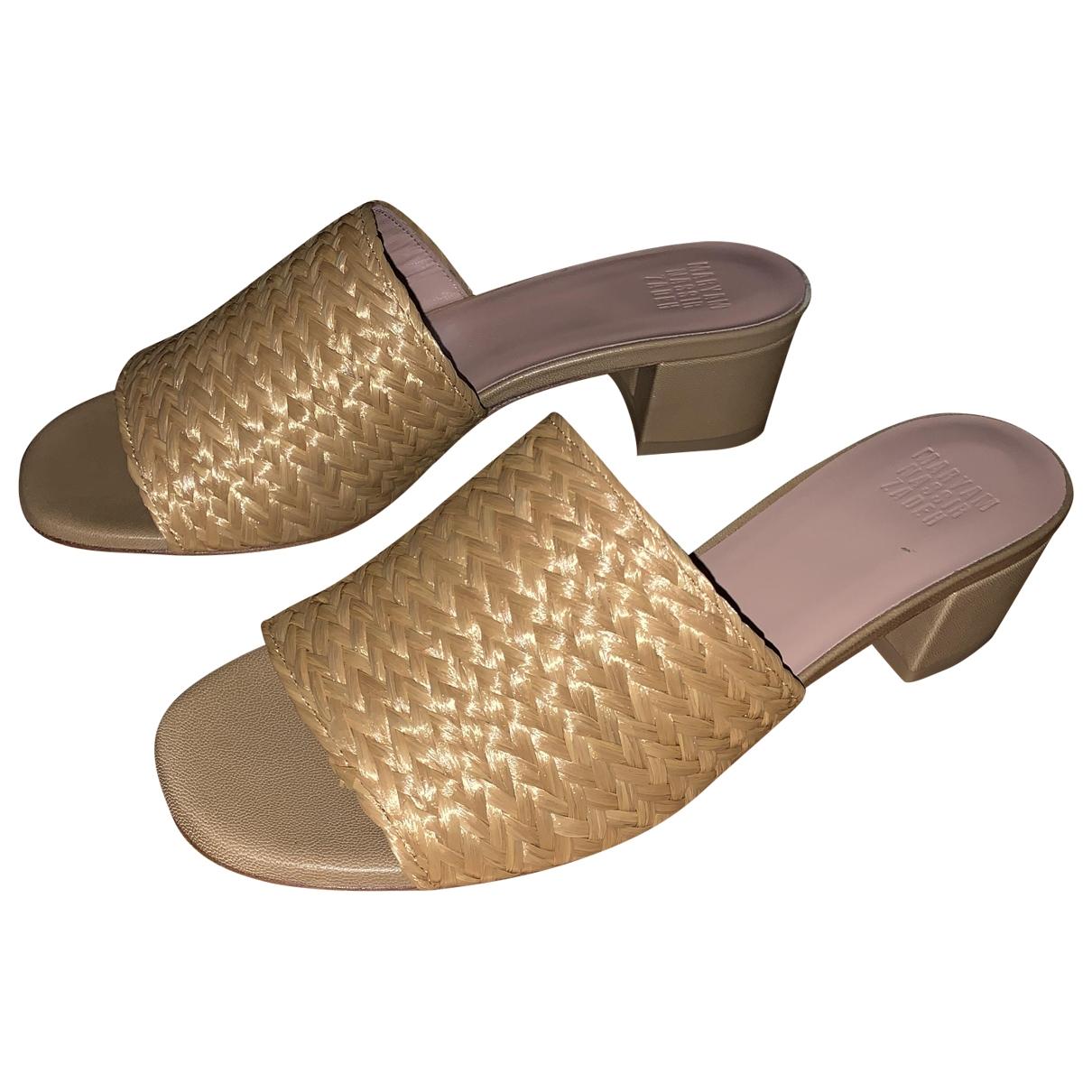 Maryam Nassir Zadeh - Sandales   pour femme en cuir - beige