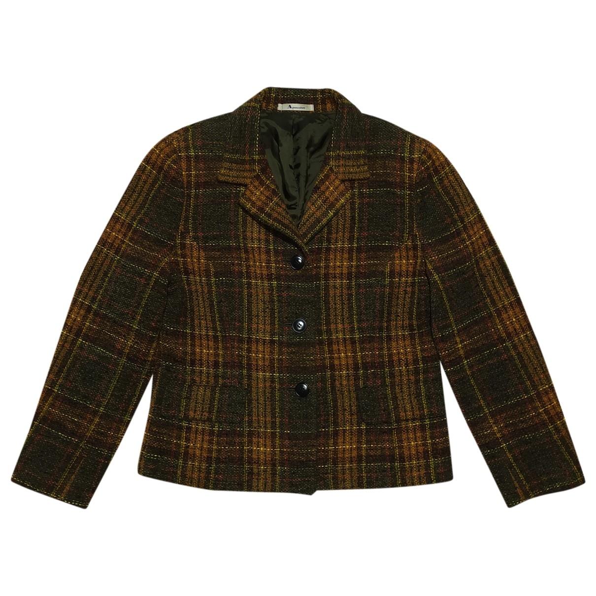 Aquascutum - Manteau   pour femme en laine - multicolore