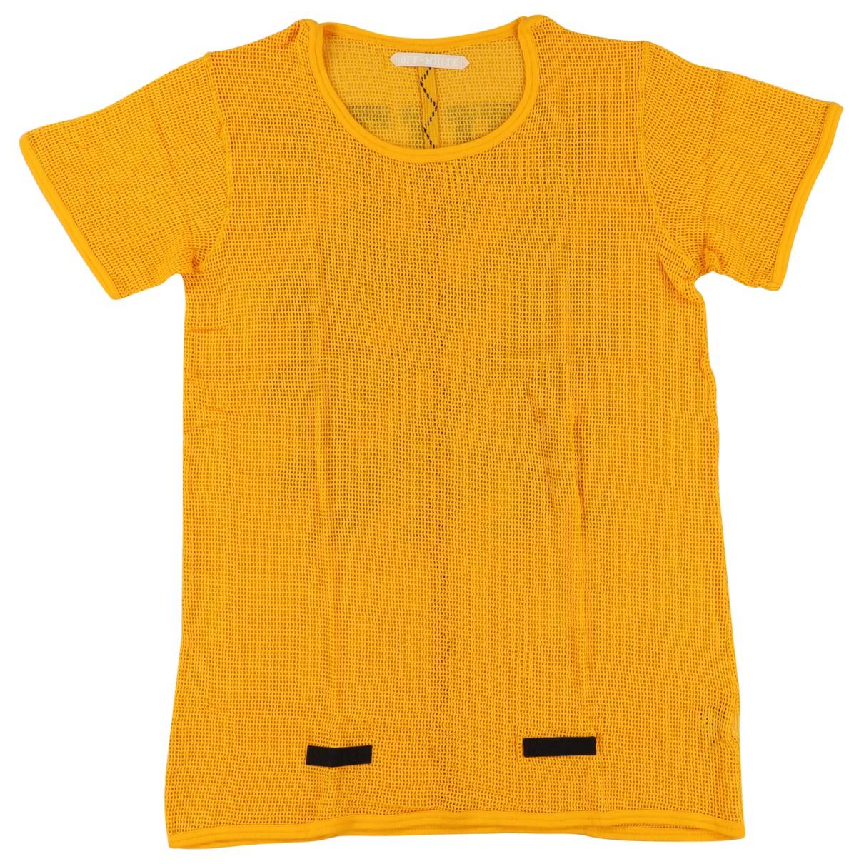 Off-white - Tee shirts   pour homme en coton - jaune