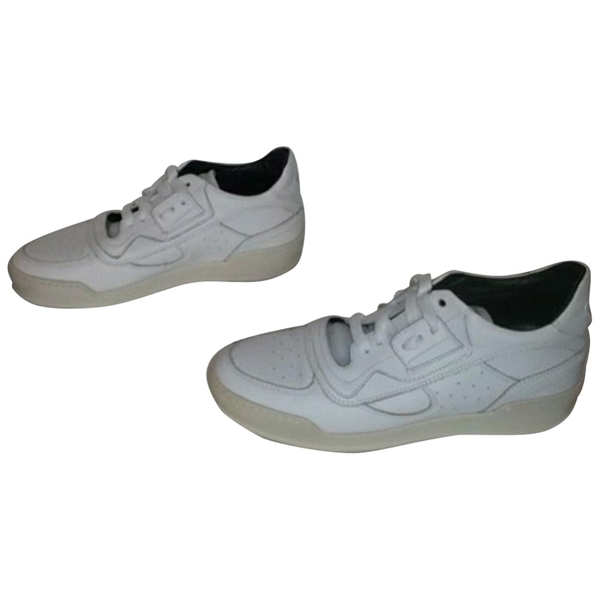Mm6 - Baskets   pour femme en cuir - blanc