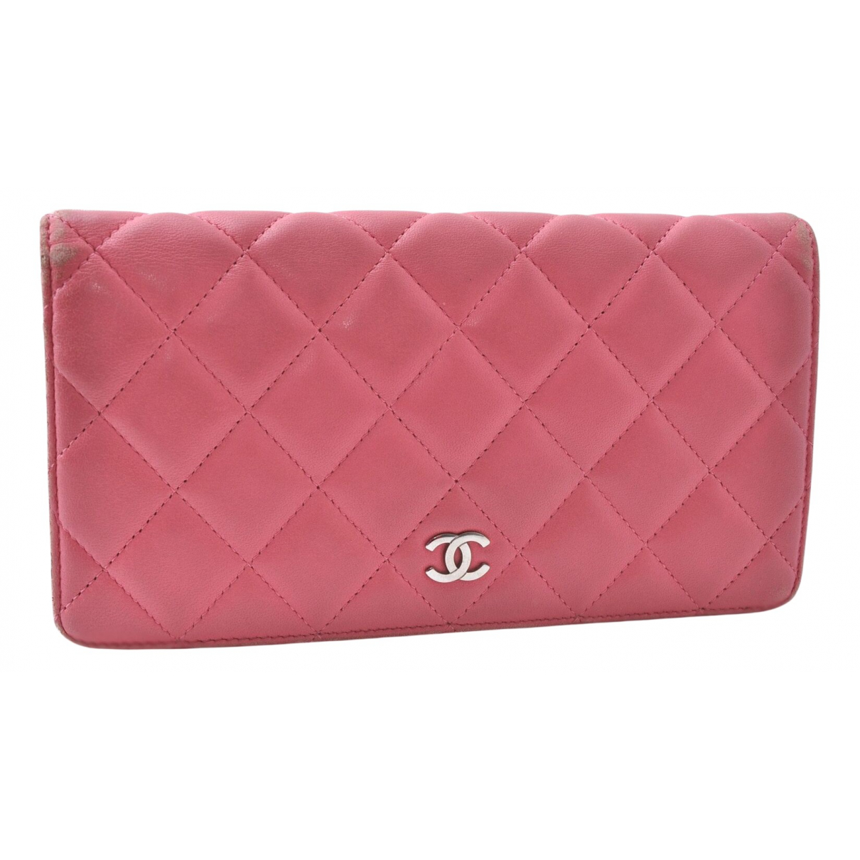 Chanel Timeless/Classique Pink Leather wallet for Women N