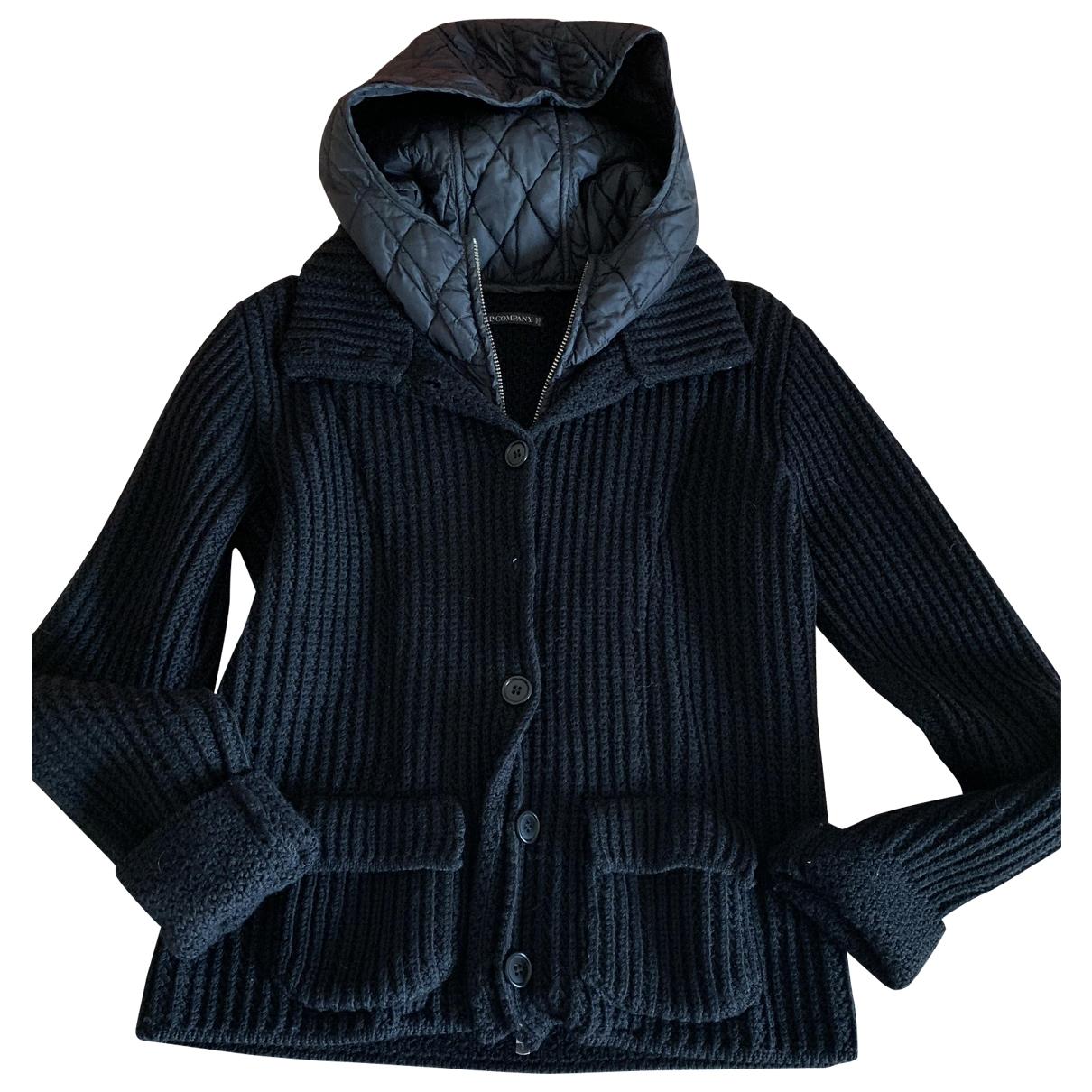 Cp Company - Pull   pour femme en laine - noir
