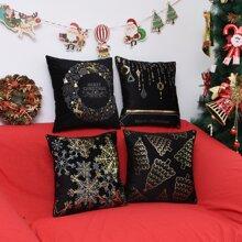 Kissenbezug mit Weihnachten Muster ohne Fuellstoff 1 Stueck