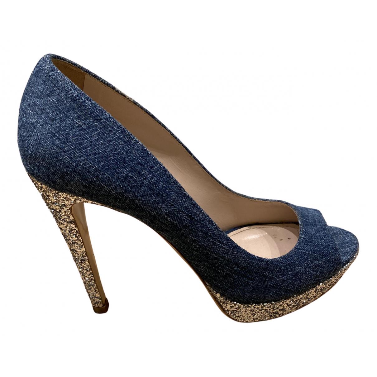 Miu Miu - Escarpins   pour femme en a paillettes - bleu