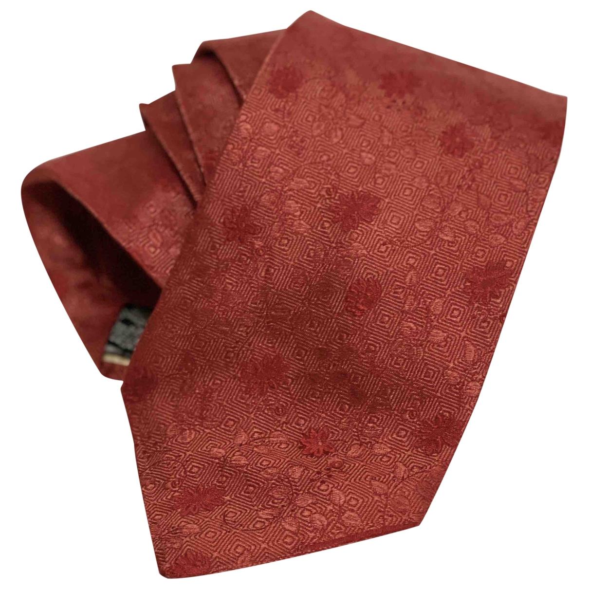 Balmain \N Krawatten in  Rot Seide