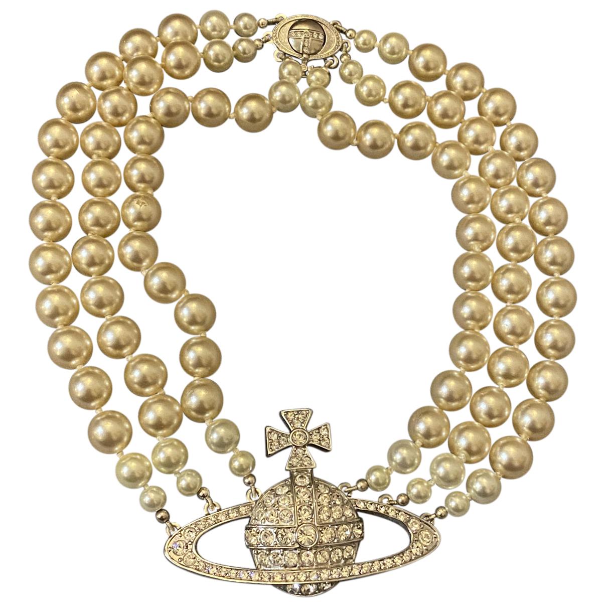 Vivienne Westwood - Collier   pour femme en perles - argente