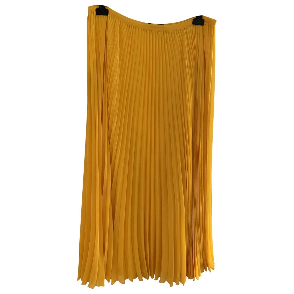 Max Mara Weekend - Jupe   pour femme en soie - jaune