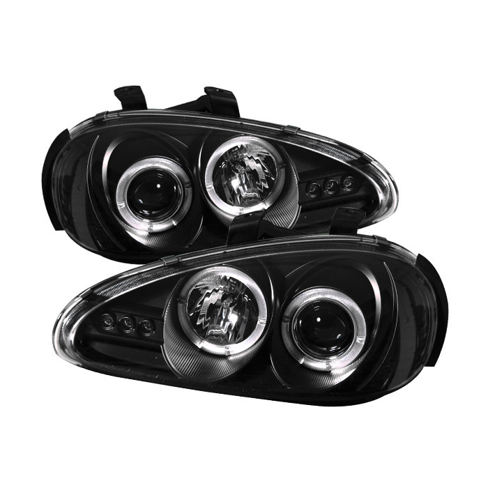 Spyder Auto PRO-YD-MMX392-HL-BK Black LED Halo Projector Headlights with High H1 and Low H1 Lights Included Mazda MX3 93-96