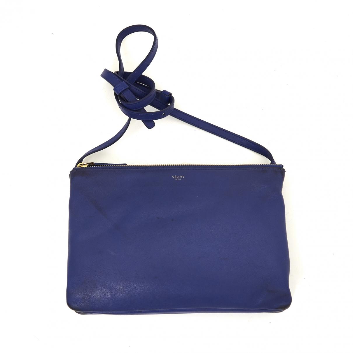 Celine Trio Blue Leather handbag for Women \N