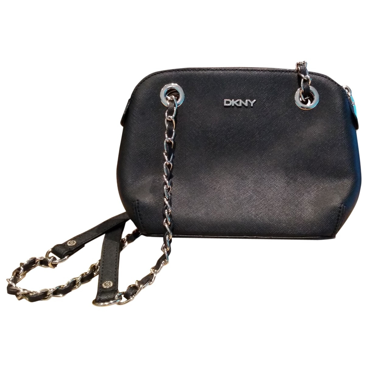 Dkny \N Clutch in  Schwarz Leder