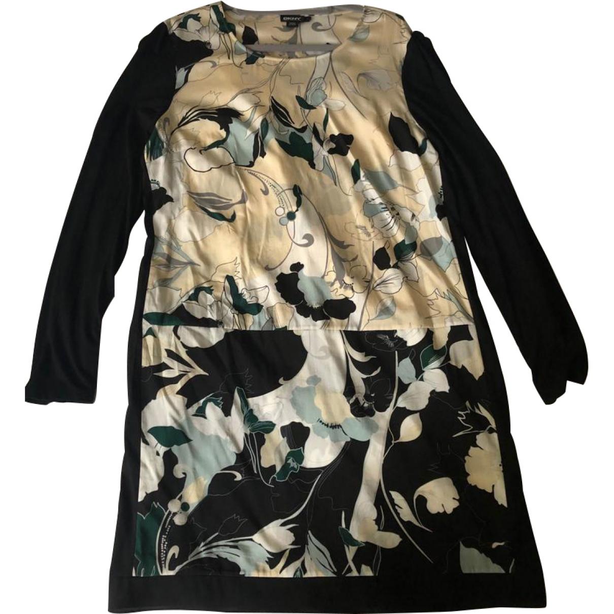 Dkny \N Kleid in  Schwarz Seide
