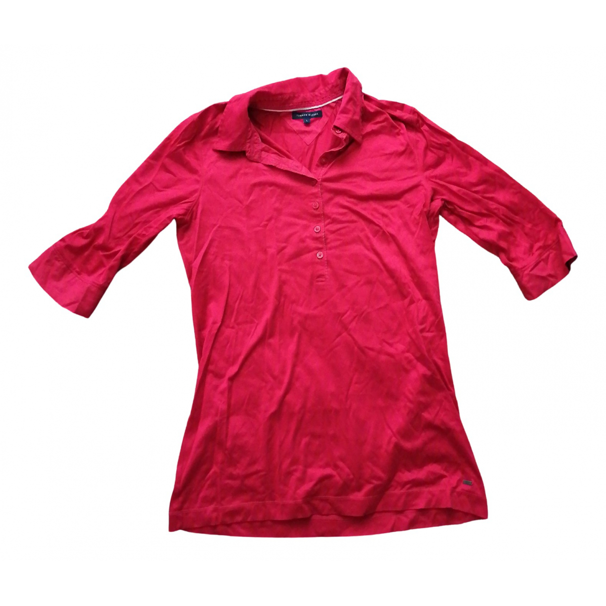 Tommy Hilfiger N Red Cotton  top for Women L International
