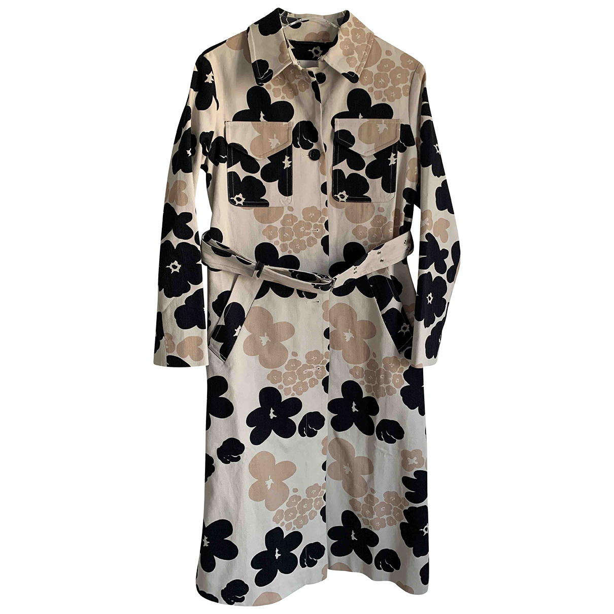 Marimekko - Trench   pour femme en coton - beige