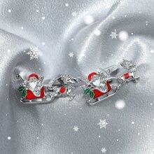 1 Paar Maenner Manschettenknopfe mit Weihnachtsmann Design