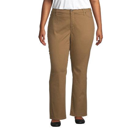 St. John's Bay Womens Mid Rise Stretch Straight Leg Jean, 20w , Brown
