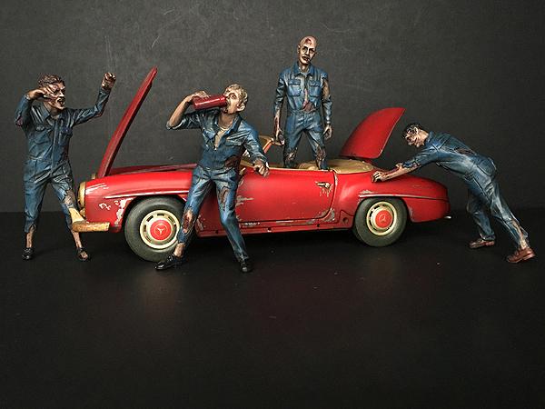 Zombie Mechanics 4 Piece Figurine Set