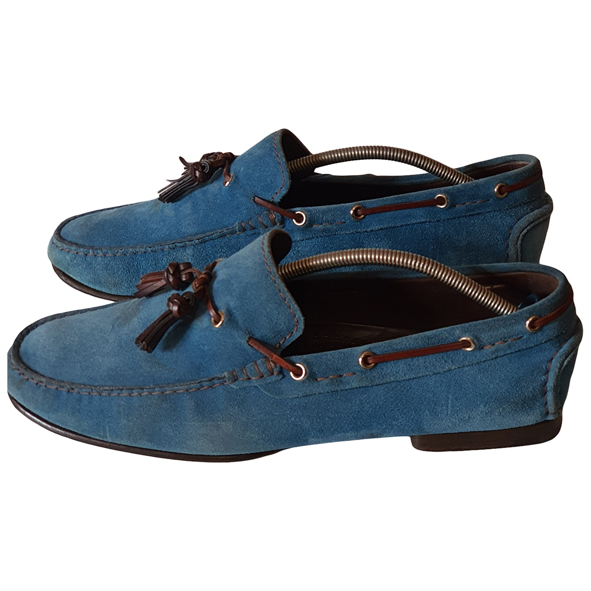 Tom Ford \N Turquoise Suede Flats for Men 12 US