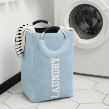 Letter Graphic Dirty Clothes Hamper