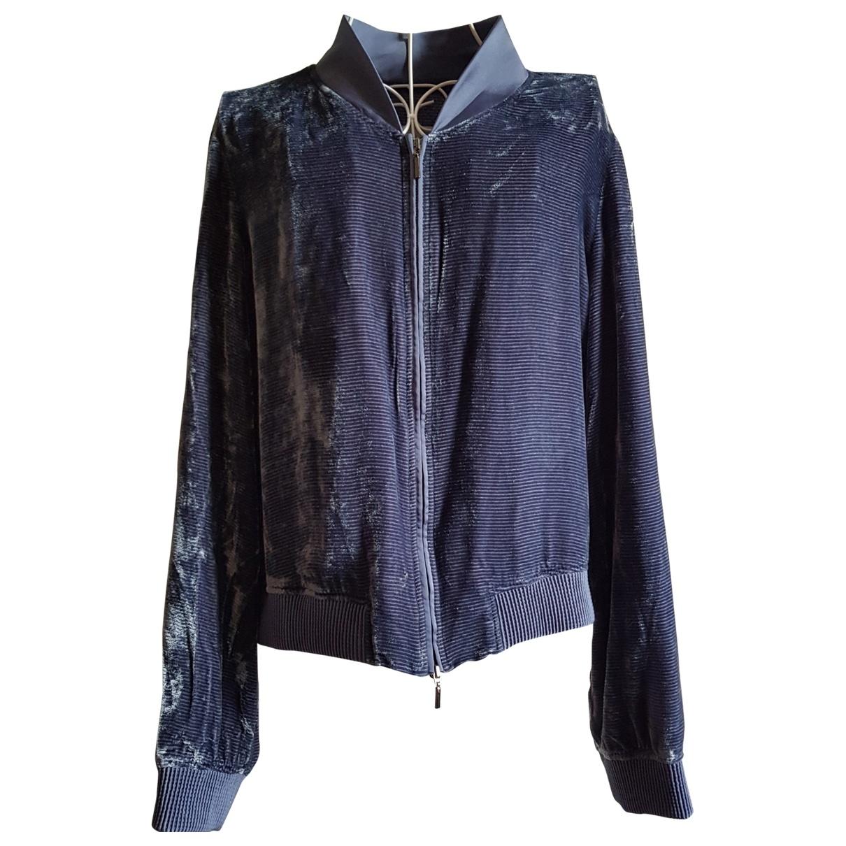 Armani Collezioni \N Blue jacket for Women 48 IT