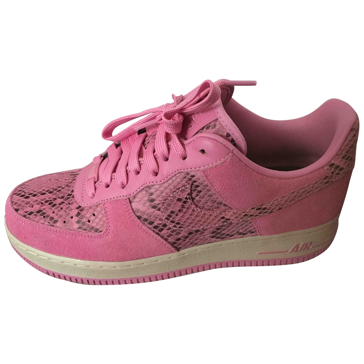 Nike Air Force 1 Pink Leather Trainers for Men 42 EU