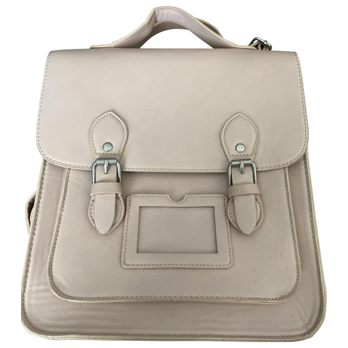 Non Signé / Unsigned \N Pink Leather backpack for Women \N