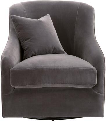 6654.DDOV Mona Collection 6654.Ddov Swivel Club Chair In Dark Dove