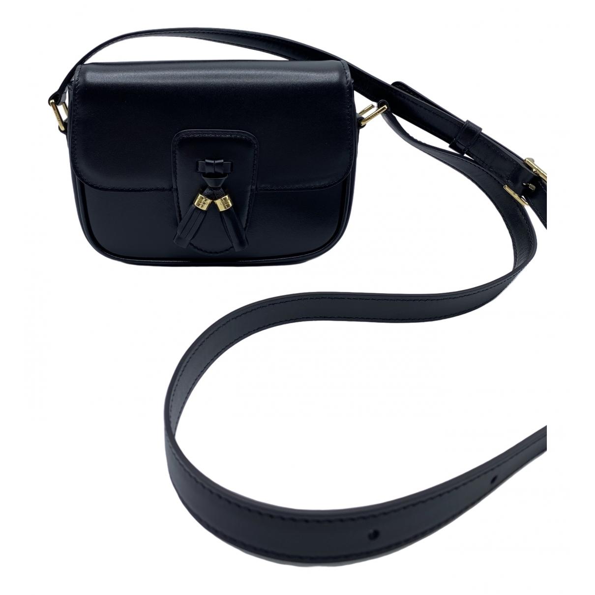 Celine Tassels Handtasche in  Schwarz Leder