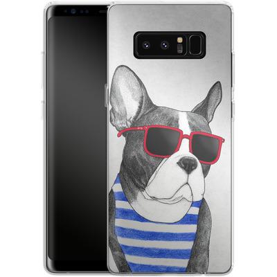 Samsung Galaxy Note 8 Silikon Handyhuelle - Frenchie Summer Style von Barruf