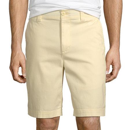 St. John's Bay Men's Comfort Stretch Chino Short, 34 , Yellow
