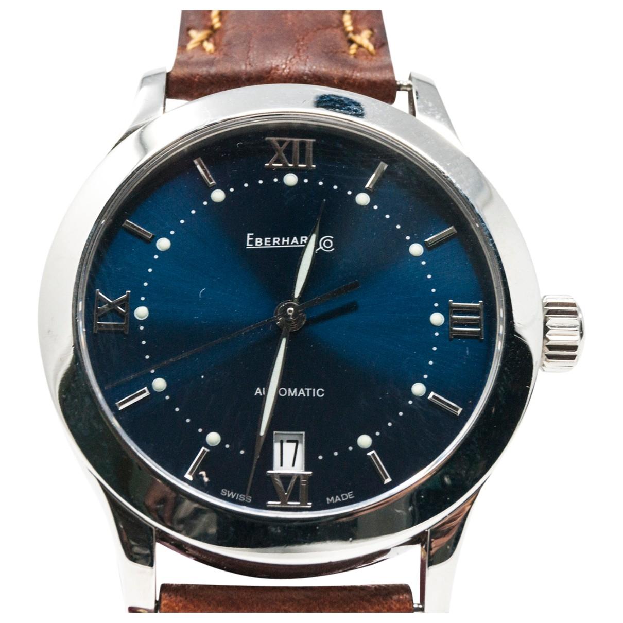 Eberhard \N Uhr in  Blau Stahl