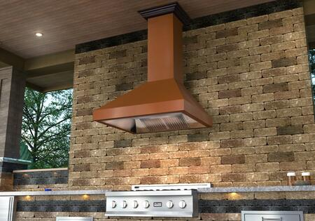 ZLKL2-48 48 Wall Mounted Range Hood with 400 CFM Motor  4 Speed Levels  2 Directional Lights and Control Panel with LCD in Brushed Stainless
