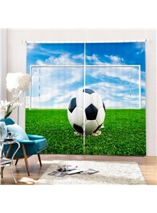 A Soccer Staying Goal Area Printing 3D Curtain