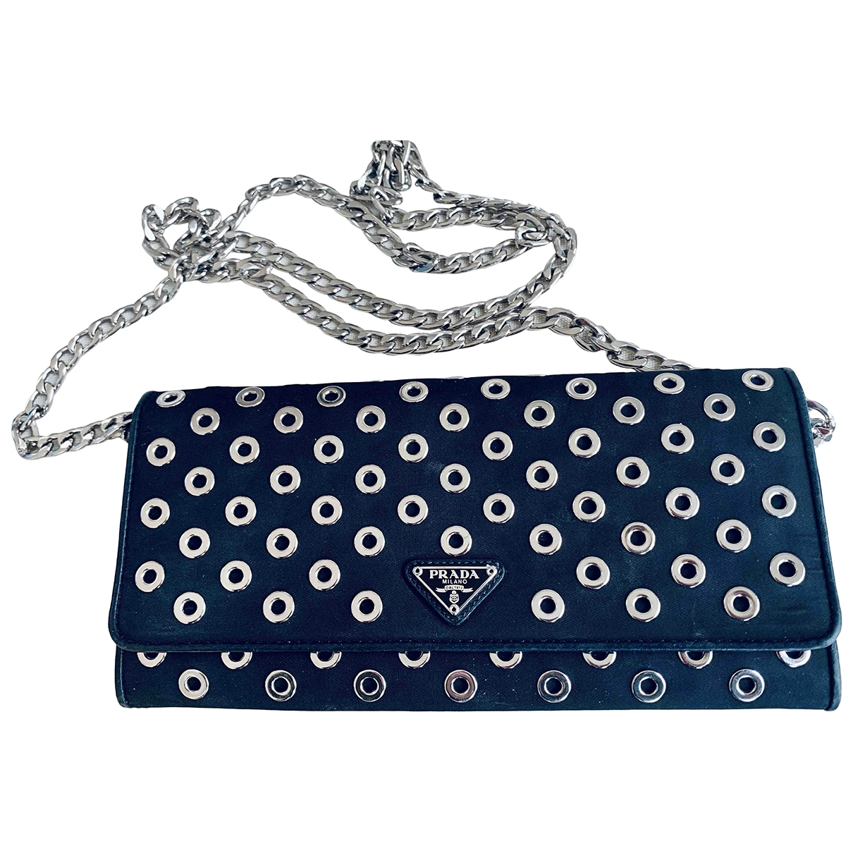 Prada \N Black Cloth Clutch bag for Women \N