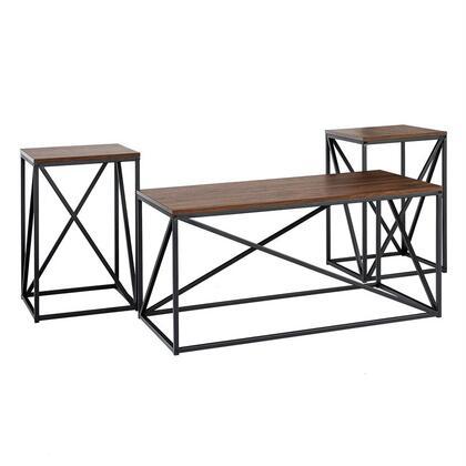 G3AF40GEODW 3-Piece Geometric Table Set in Dark