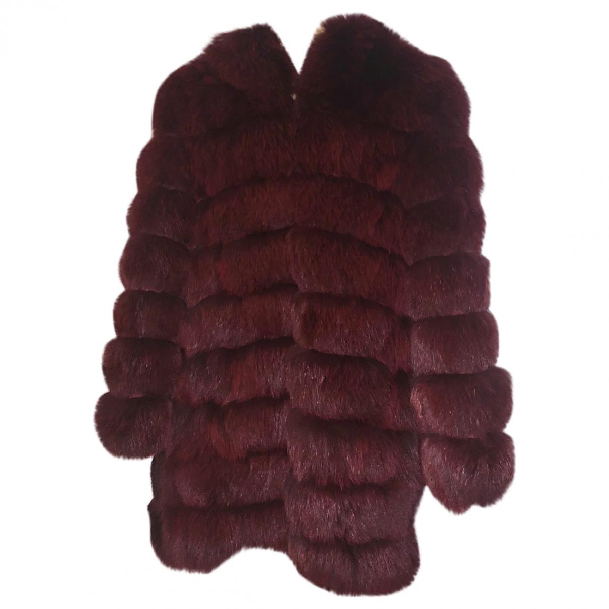 Meotine \N Burgundy Fox coat for Women S International