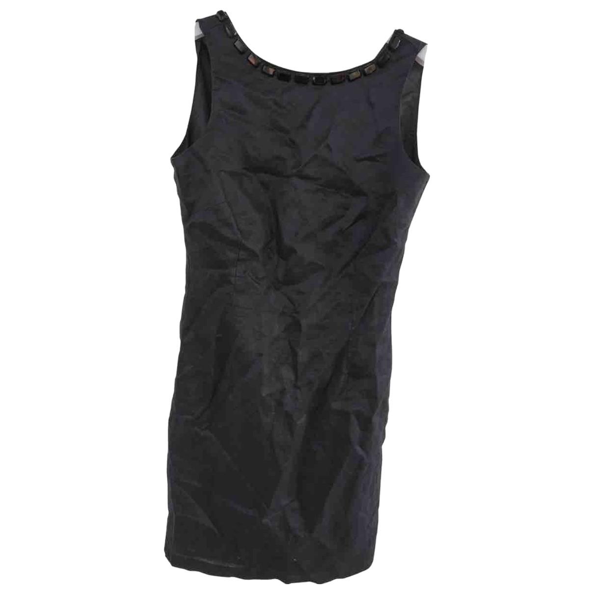 Zara - Robe   pour femme en lin - noir