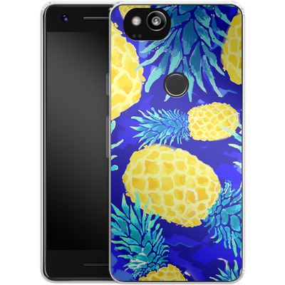 Google Pixel 2 Silikon Handyhuelle - Pineapple Crush von Mukta Lata Barua