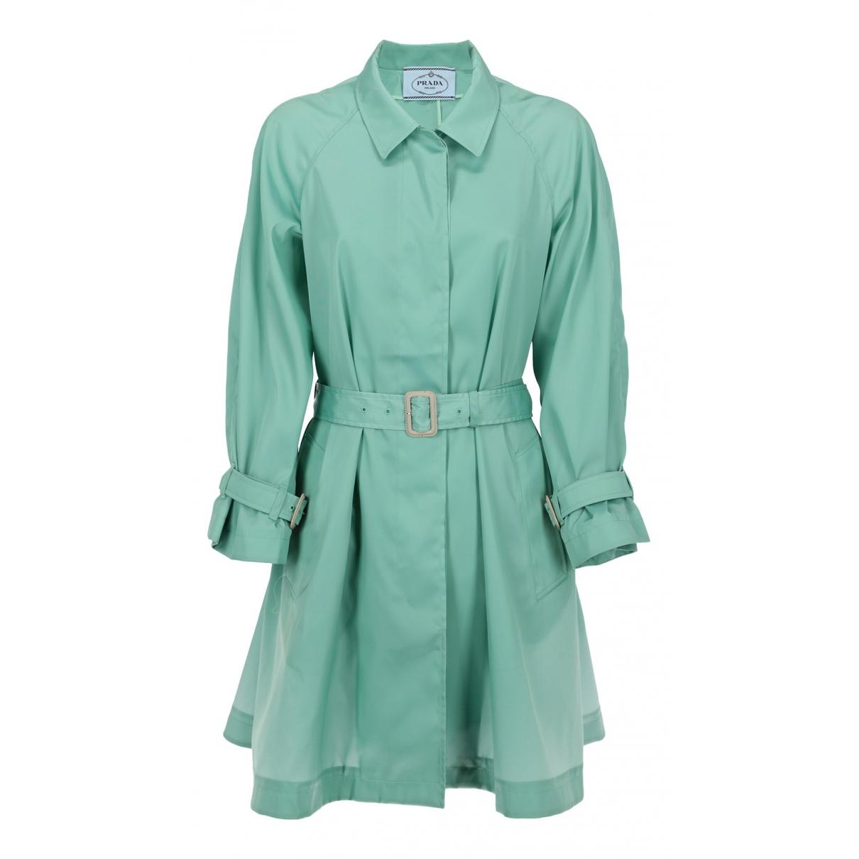 Prada \N Kleid in  Gruen Synthetik