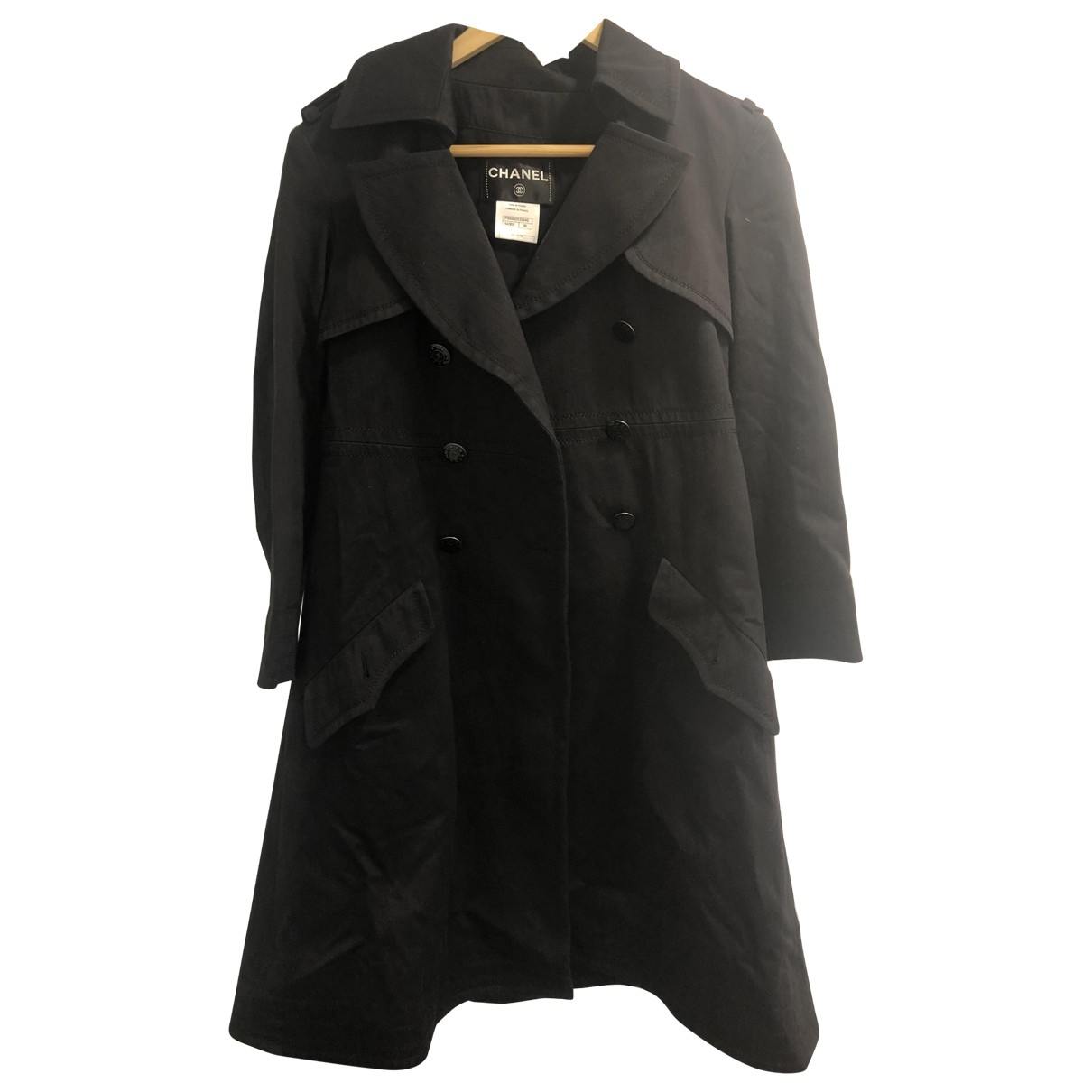 Chanel \N Black Cotton coat for Women 36 FR