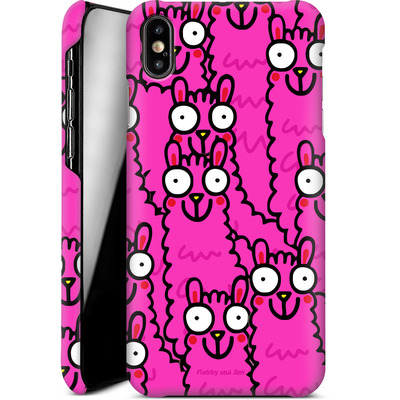 Apple iPhone XS Max Smartphone Huelle - Lama Pink Dream von Flossy and Jim