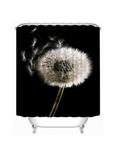New Arrival Dandelion Print 3D Shower Curtain