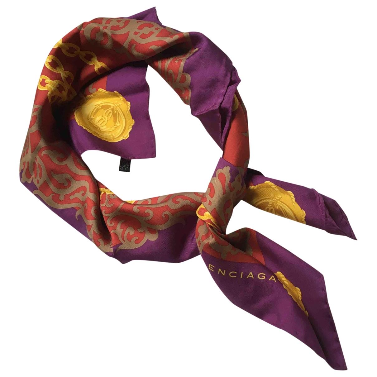 Balenciaga \N Burgundy Silk scarf for Women \N