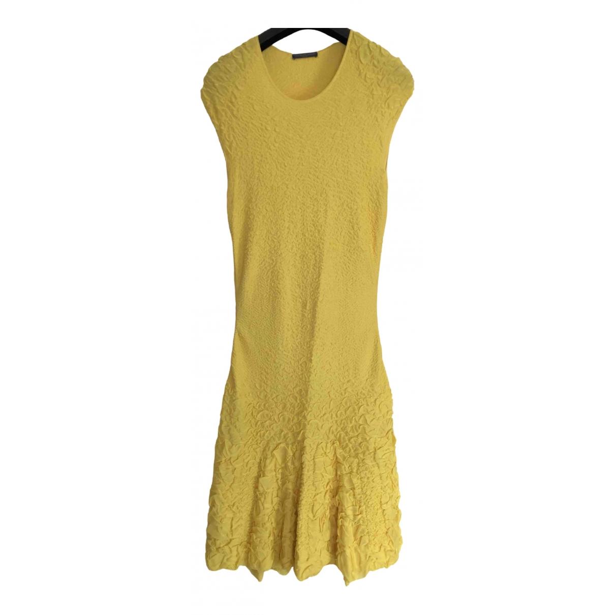 Alexander Mcqueen - Robe   pour femme - jaune