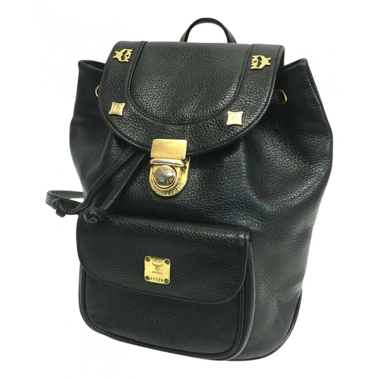Mcm N Black Leather backpack for Women N